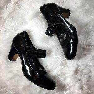 Taryn Rose Patent Leather Mary Jane Heels